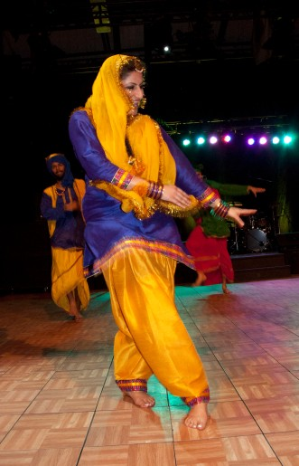 This was arguably the most colourful act in the International Days Showcase.