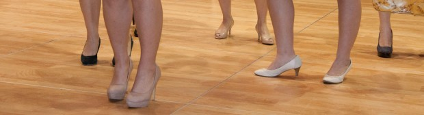 Some of the high-heels must have been difficult to dance in!