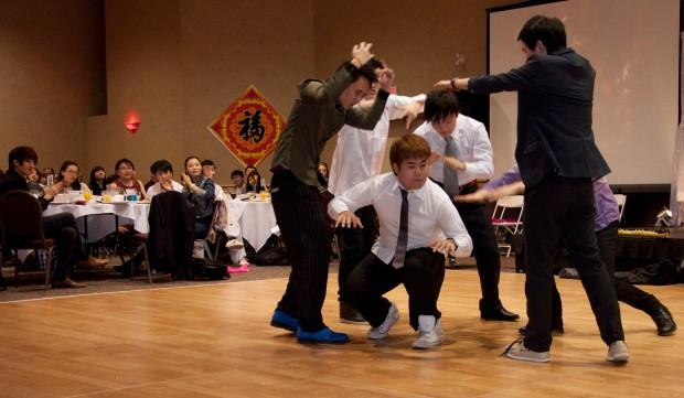 CNY popping dance 8