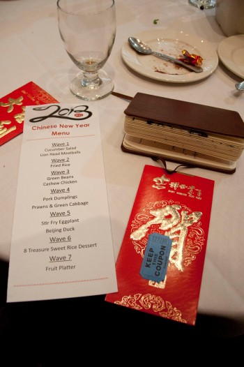 CNY Tickets and Menu