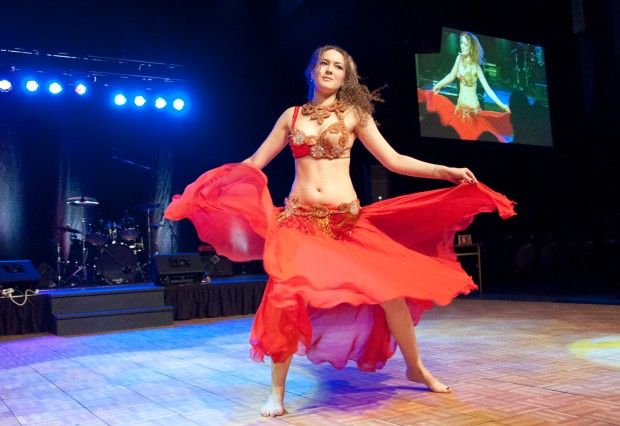 This belly dancer, from Russia, had the audience entranced with her fluidity.