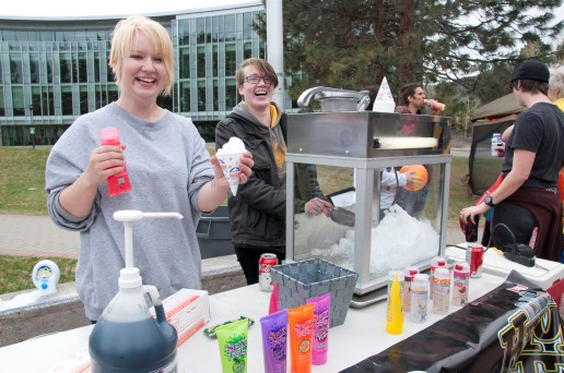I kid you not there was snow cones flavoured with lube.