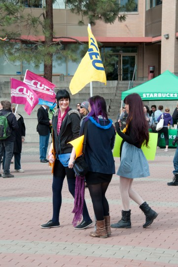 A number of unions showed their support for LGBT rights in Canada.