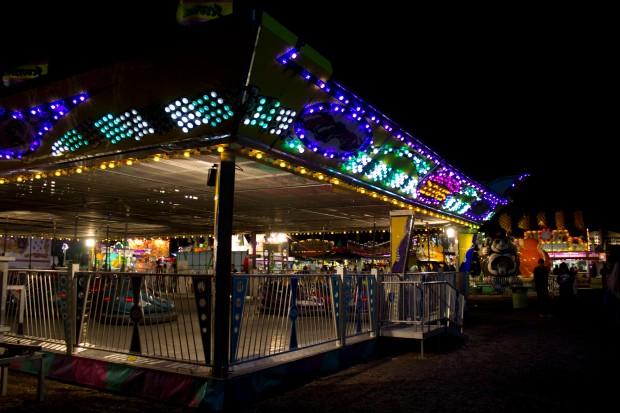 Carnival dark bumpercars