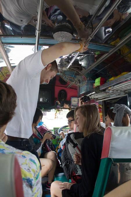 bus to the Erawan falls