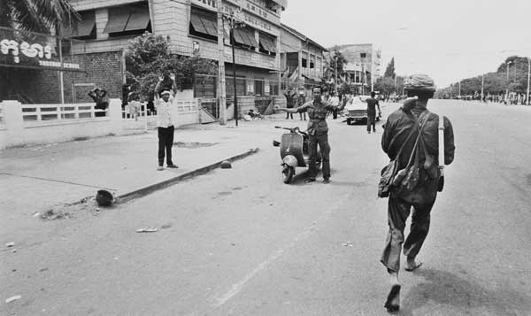 Photo by Al Rockoff, one of a small number of foreign journalists who documented the dawn of the Khmer Rouge's reign.